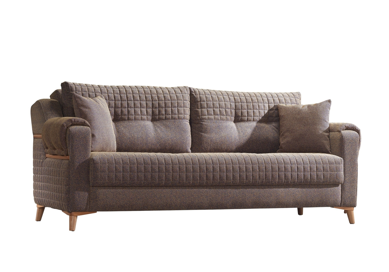 Canapé lit tissu marron ÉROS-2