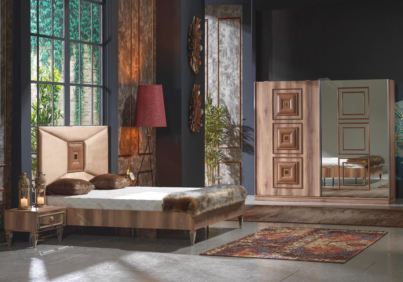 Chambre à coucher noyer KING-1