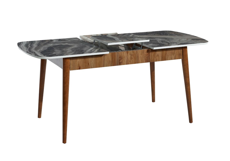 Table + chaise bois marbré ERVA-1