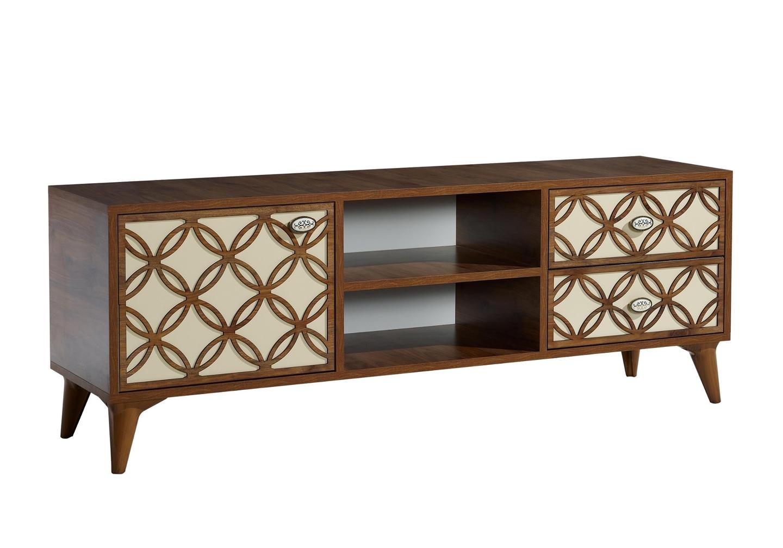 Meuble tv haut décor bois FLIX-1