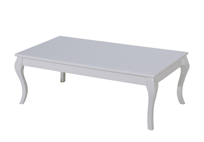 Table basse laqué blanc BAROK
