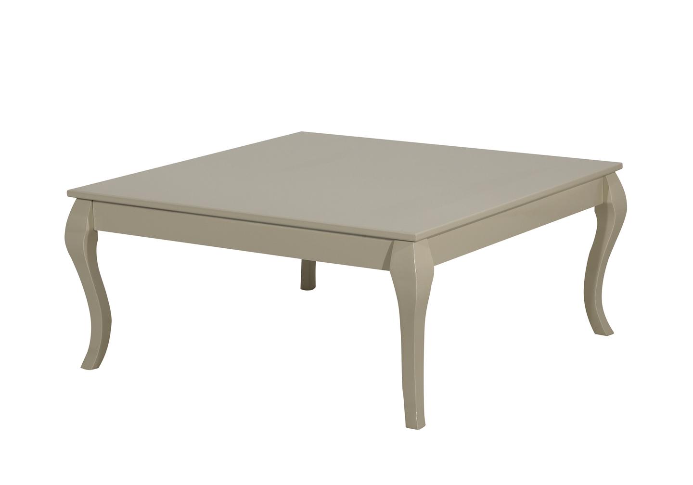 Table basse carré laqué moka BAROK