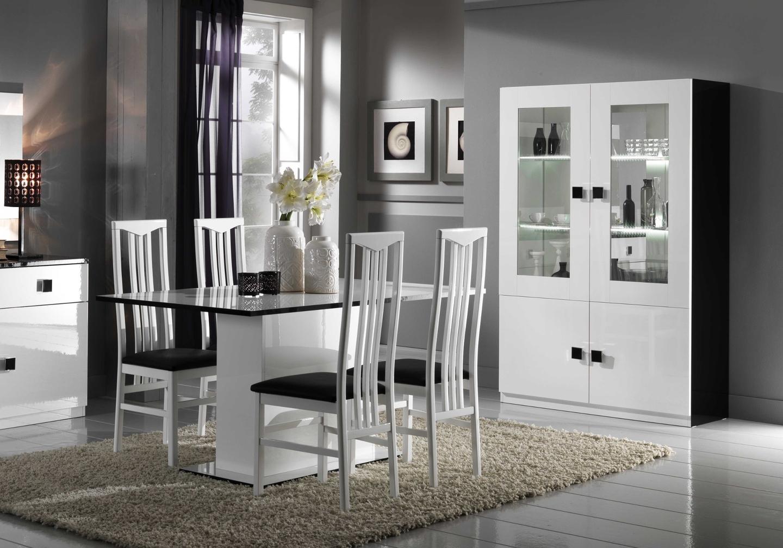 Salle à manger noir blanc AURORA-4