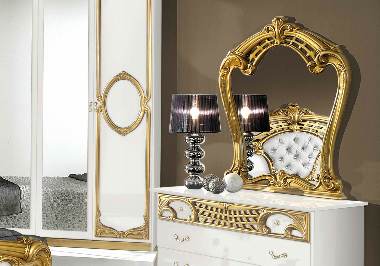 Chambre capitonné blanc doré SIBILLA I-1