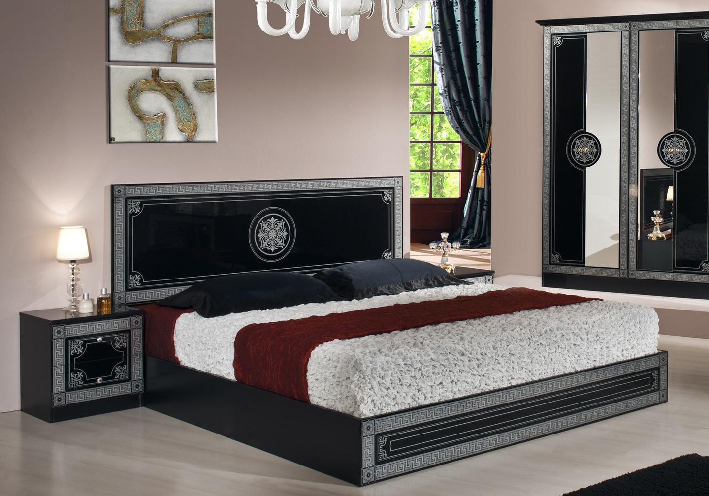 Chambre versace pas cher noir LUNA-1