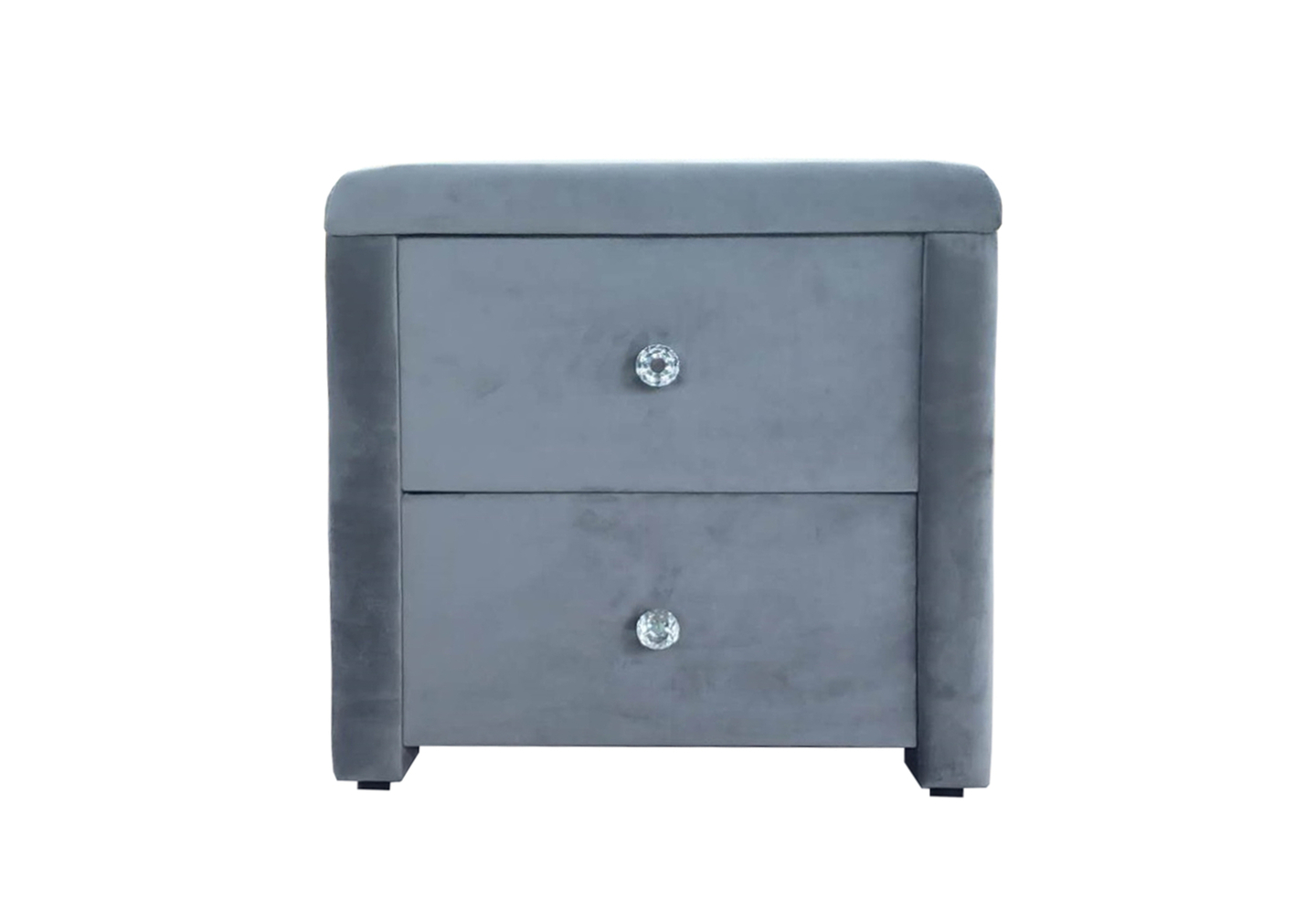 Table chevet velours gris ANIS