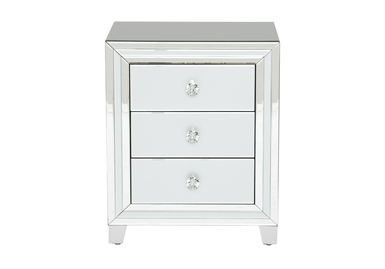 Table chevet miroir blanc DIVA.1