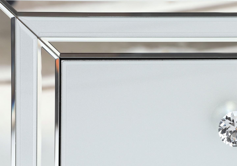 Table chevet miroir blanc DIVA.4