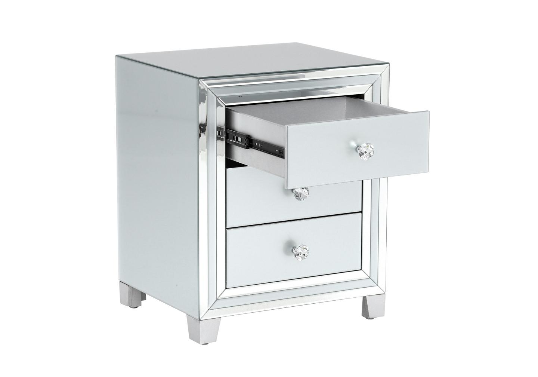 Table chevet miroir blanc DIVA.2