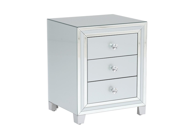 Table chevet miroir blanc DIVA