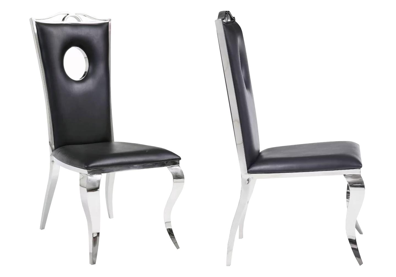 Chaises baroque chromé noir PIA