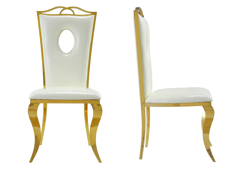 Chaises baroque doré blanc PIA.1
