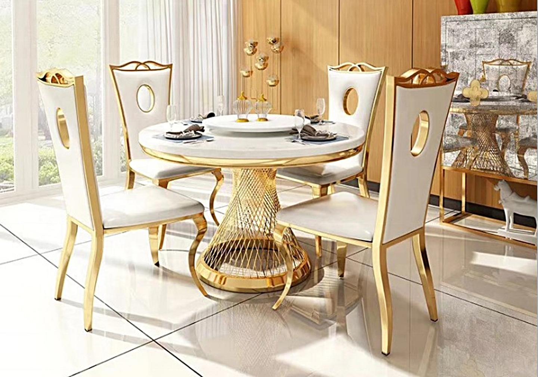 Chaises baroque doré blanc PIA-8