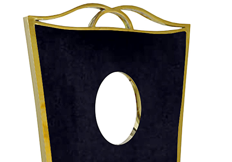 Chaises baroque doré velours noir PIA.2