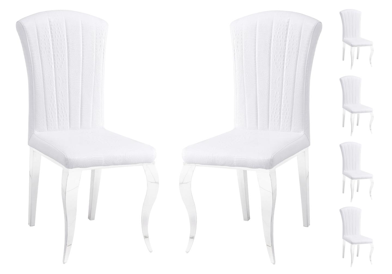 Chaises chromé croco blanc ÉNO.1