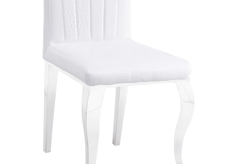 Chaises chromé croco blanc ÉNO.3