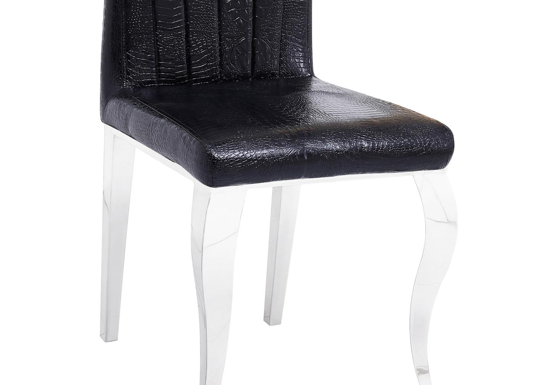 Chaises chromé croco noir ÉNO.3