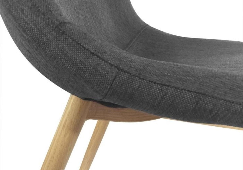 Chaises scandinave tissu gris LOA.3