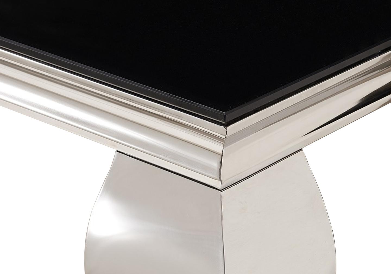 Console chromé verre noir NEO.2