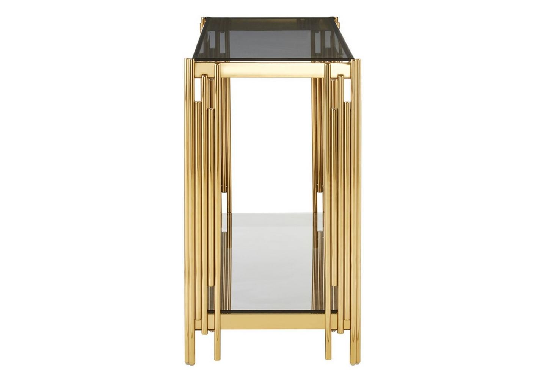 Console design doré verre noir ÈVE.2