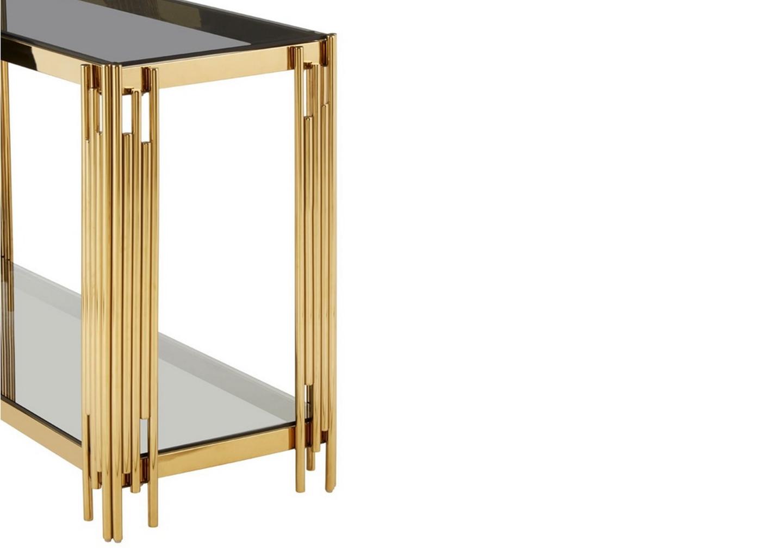 Console design doré verre noir ÈVE.4
