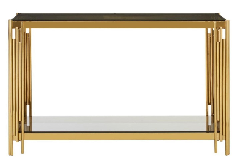 Console design doré verre noir ÈVE.5