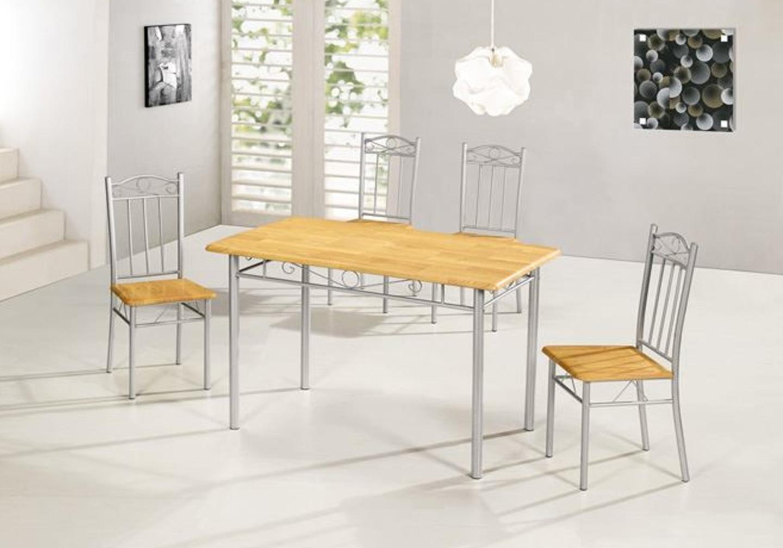 Ensemble table 4 chaises hêtre TED