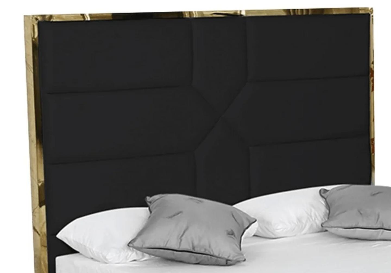 Lit coffre design laiton noir LINAÉ.4