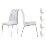 Lot 6 chaises chromé blanc DEA.1