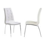 Lot 6 chaises chromé blanc DEA