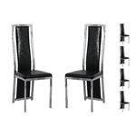 Lot 6 chaises chromé croco noir DIA.1