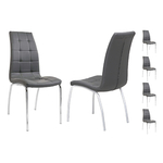 Lot 6 chaises chromé gris DEA.1