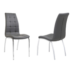 Lot 6 chaises chromé gris DEA