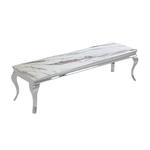 Meuble tv chromé marbre blanc NEO.1