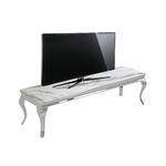 Meuble tv chromé marbre blanc NEO.2
