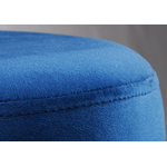 Pouf design doré velours bleu ISY.2