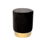 Pouf design doré velours noir LISY.1