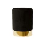 Pouf design doré velours noir LISY
