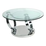 Table basse articulée chromé verre VARIO.1