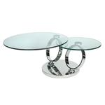 Table basse articulée chromé verre VARIO.2