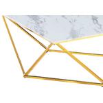 Table basse carré doré marbre blanc ILÉA.1
