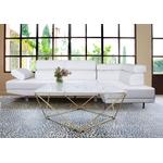 Table basse carré doré marbre blanc ILÉA.3