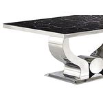 Table basse chromé marbre noir NEA.1