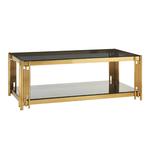 Table basse design doré noir ÈVE