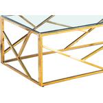 Table basse design doré verre ILÉA.1