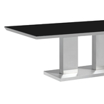 Table basse inox verre trempé IZA.1