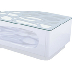 Table basse laqué blanc verre FLO.1