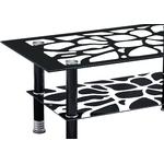Table basse verre trempé noir HAYA.1