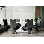 Table design extensible 6 chaises EOL.1