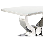 Table manger baroque chromé blanc NEA.2
